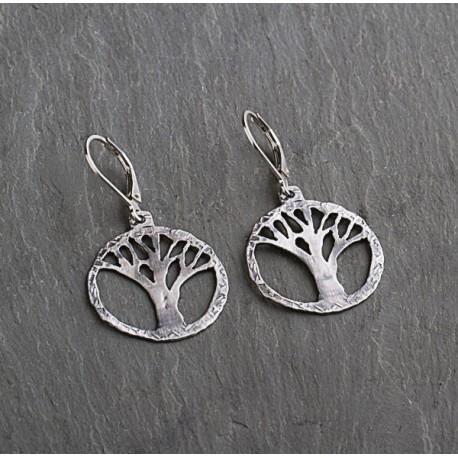 Sterling Silver Tree Earrings by Ian Gibson