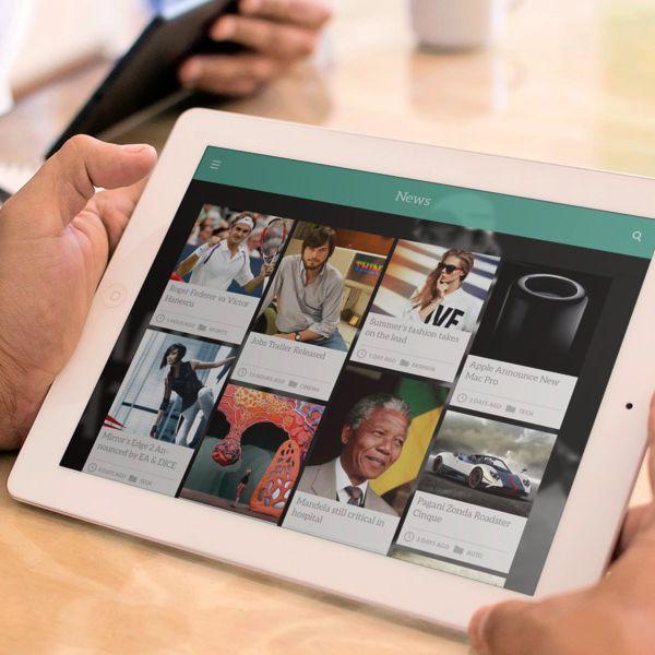 News App UI - Pipe by Ismail MESBAH, via Behance