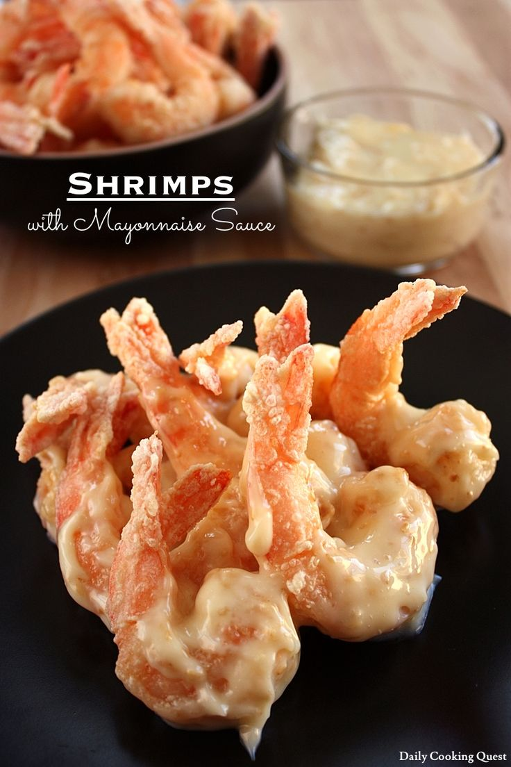 Shrimps with Mayonnaise Sauce