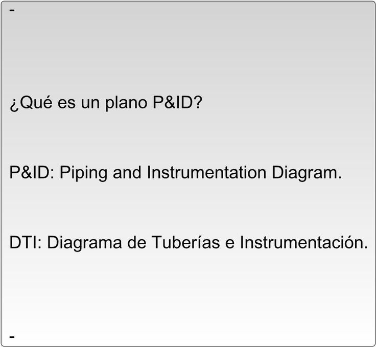 ¿Qué es un plano P&ID?      P&ID: Piping and Instrumentation Diagram.      DTI: Diagrama de Tuberías e Instrumentación.