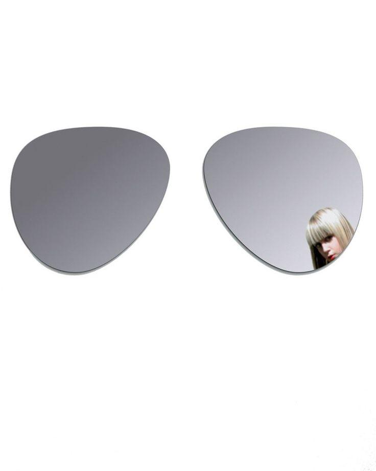 mirrordeco.com — Aviator Sunglasses - Shaped Wall Sticker Mirrors W:120cm