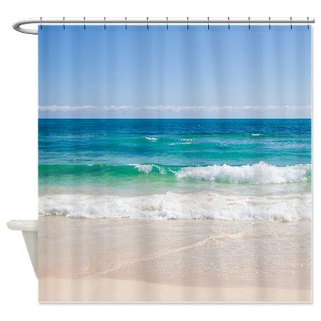 Beach+Shower+Curtain | ... > Beach Bathroom Accessories & Décor > Beach Shore Shower Curtain