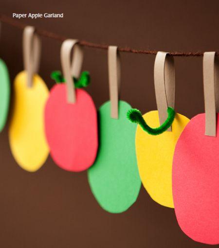 Paper Apple Garland