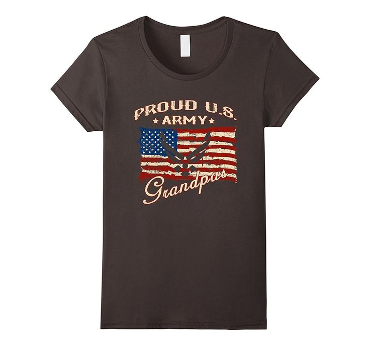 Proud US Army Grandpa with Army symbol US flag T-shirt