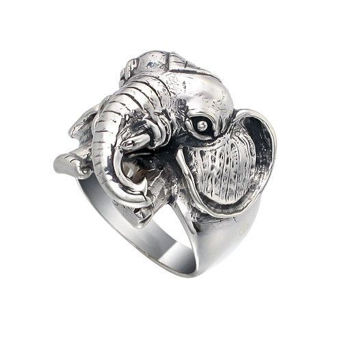 Kind of crazy but I Iike it.  Heavy Weight Elephant Face 925 Sterling Silver by jewelkingthai, $44.00