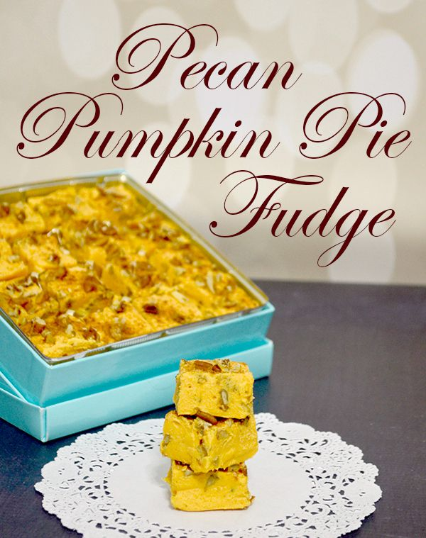 This Pecan Pumpkin Pie Fudge Recipe only takes a few ingredients!! Only two main ingredients but, it's so versatile you can make so many different flavors!