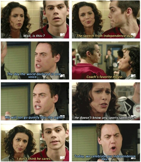 Coach (Orny Adams) is so ridiculous and hysterical. #TeenWolf #StilesStilinski