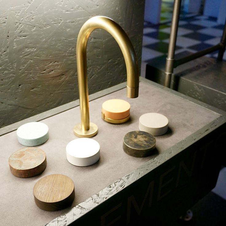 Brand new Elements tap range by US based The Watermark Collection, available Autumn 2016. 15 tap spout finishes including brass, copper, black & nickel and rotating controls in marble, stone, metal, timber and concrete giving over 250,000 combinations. Pretty cool huh?