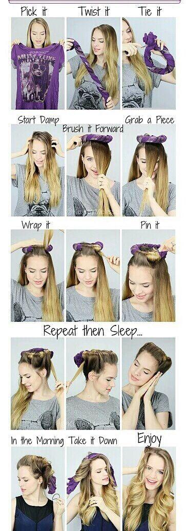 Perfect tutorial for long hair, loose curls!