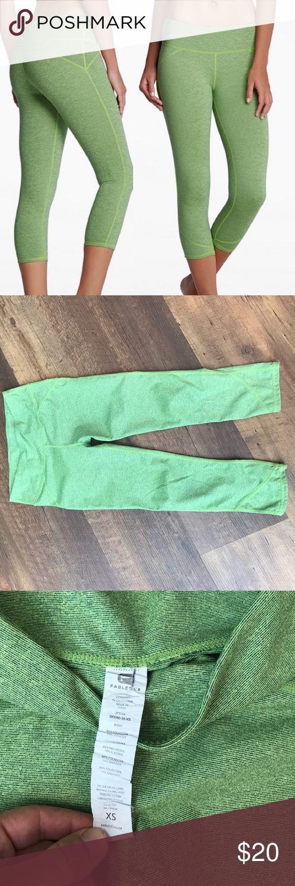 Fabletics Lima Capri, like new! Excellent condition, super comfy fit. Lime green in color Fabletics Pants Capris