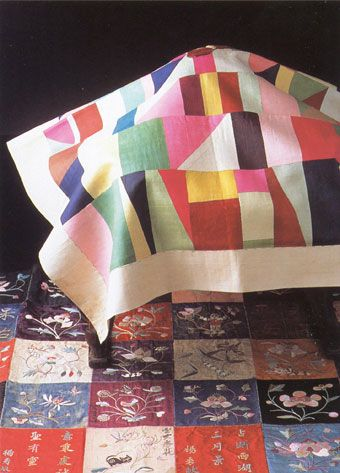 Pojagi, traditional Korean patchwork and embroidery