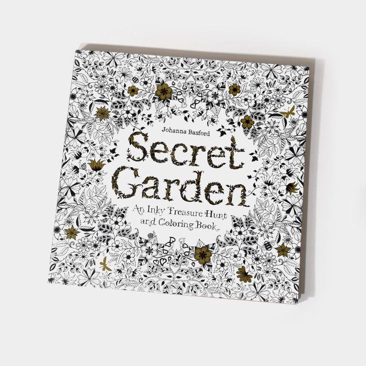Secret Garden - An Inky Treasure Hunt & Coloring Book
