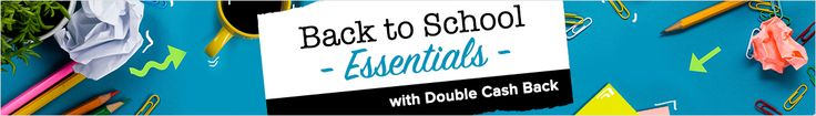 With Back to School Sales and Double Cash Back at Ebates.ca, you can tackle that seemingly endless list of school supplies and come up under budget with back to school deals, promo codes and free shipping offers from top stores!
