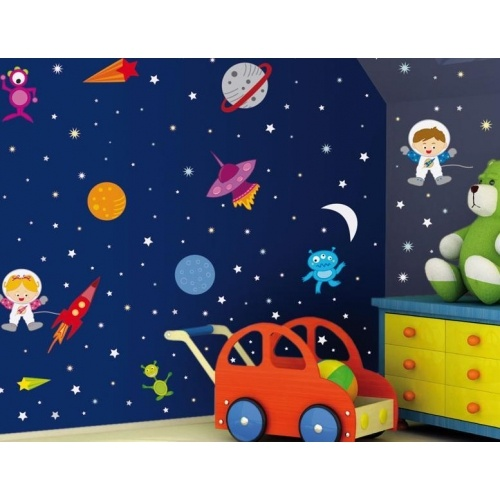 116 best outer space nursery theme images on pinterest for Outer space kids room