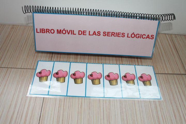 Materiales manupulativos atención el libro móvil de las series lógicas