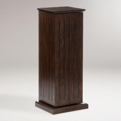 Espresso Hampton Media Storage Pedestal | World Market