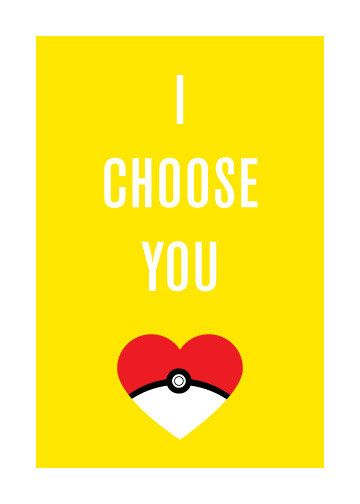 I Choose You - Geeky Greeting Card for Love or Friendship. $3.00, via Etsy.