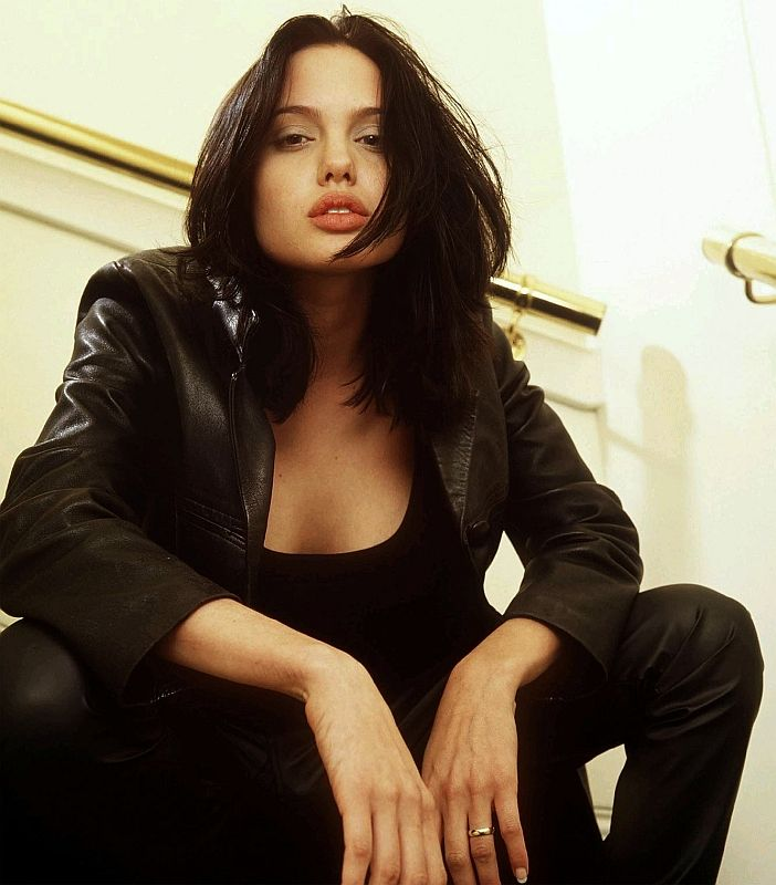 A young Angelina Jolie