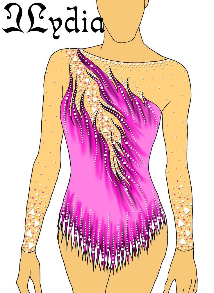Competition Rhythmic gymnastic leotard design Kaat