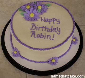 Robin Birthday Cake