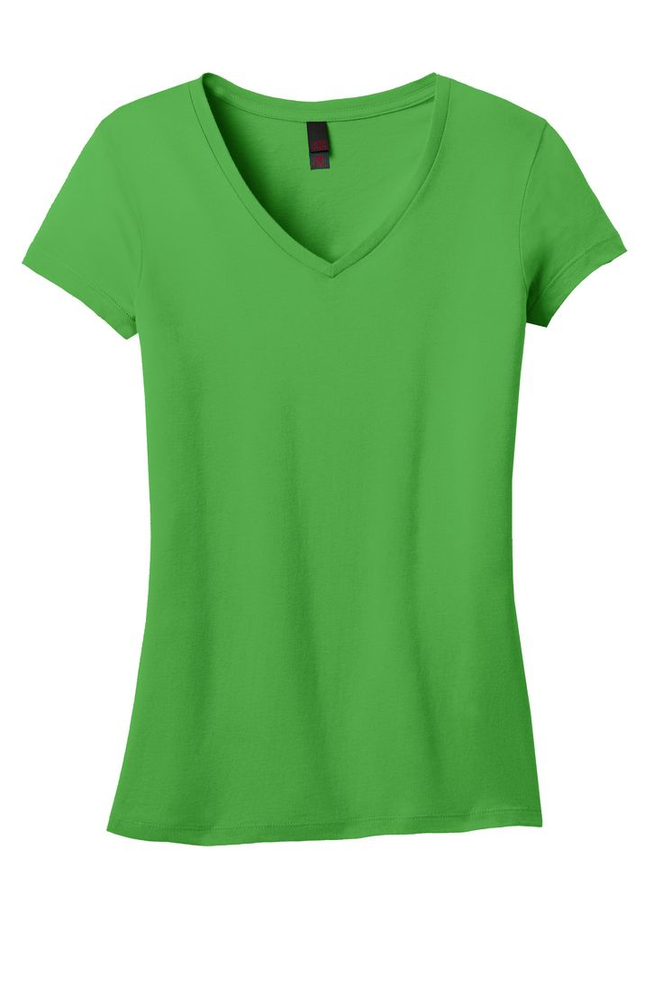 District Womens Juniors Vintage Wash Cotton V-Neck Short Sleeve T-Shirt DT4501
