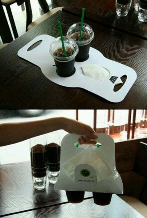 Plantilla para transportar bebidas - cafetería