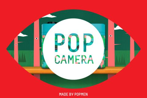 launch screen on Pop Camera