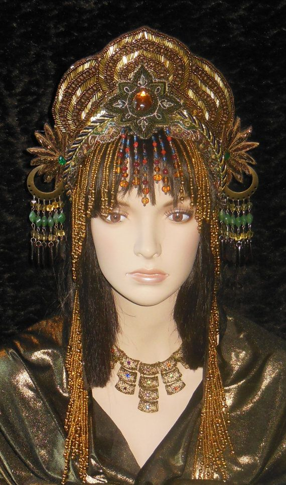 MADE TO ORDER Fantasy Cleopatra Golden goddess by MIMSYCROWNS, $375.00