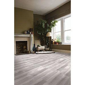 Wickes Timber Grey Glazed Porcelain Floor Tile 155x660mm