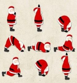 Santa does yoga too! #santa #yoga re-pinned by www.globalgroovelife.com