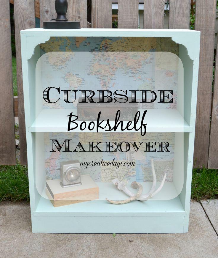 Curbside Bookshelf Makeover. mycreativedays.com