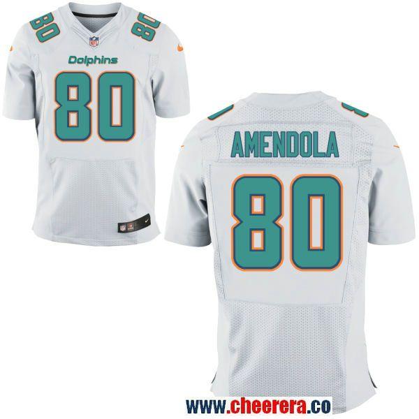 9c05576f0 ... cheap mens miami dolphins 80 danny amendola white road stitched nfl nike  elite jersey philadelphia eagles ...