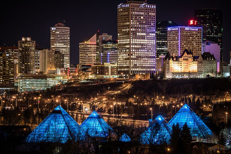 Edmonton Alberta Canada at night - ATB light [Explored]