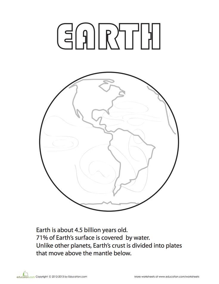 Earth Coloring Page Solar System Coloring Pages Earth Coloring