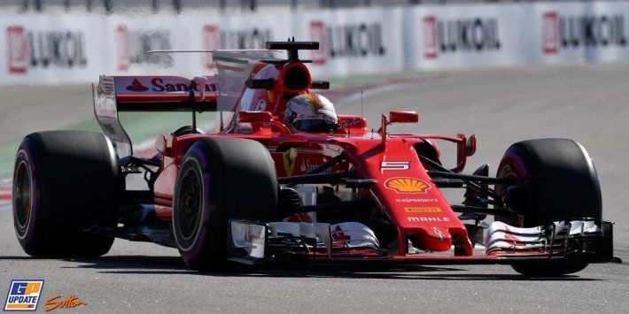 Sebastian Vettel and Ferrari remain on top during final practice for the Russian Grand Prix F1 RussianGP gpupdate.net/en/f1-