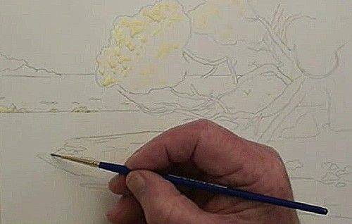 How to Paint Pohutukawa at the Beach in Watercolour — Online Art Lessons