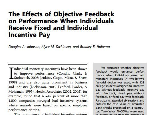 an analysis of the effects of pay for performance on organizational performance Employee's performance, as well as a significant effect of organizational commitment on employee performance in addition, this study found that compensation can not directly improve employee performance, but able to.