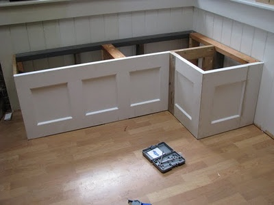How To Build A Banquette Out Of Cabinets Woodworking