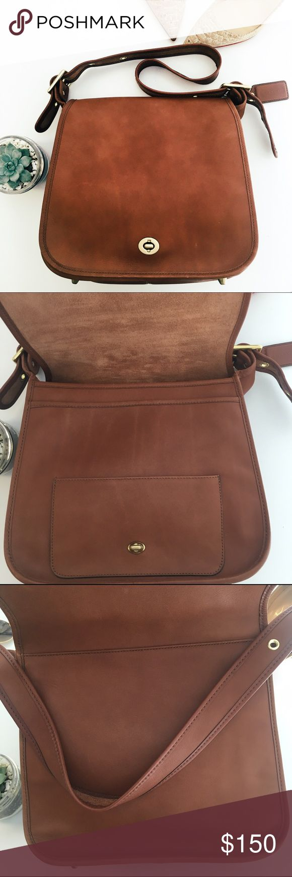 Genuine leather Coach messenger bag Pre-loved Coach messenger bag! Subtle signs of wear on the leather but no obvious damage. Very functional, the leather is so soft you're bound to love it! Coach Bags