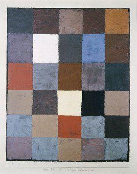 Paul Klee: Farbtafel (auf maiorem Grau)