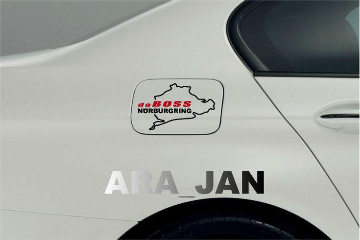 daBOSS NURBURGRING Fuel Gas Tank cover Decal car sport sticker logo Black/Red #ARA_JAN