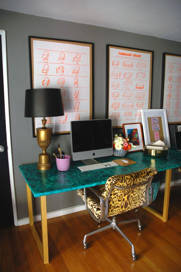 painted office furniture. try a diy faux malachite painted desk to bring your office dcor life furniture t