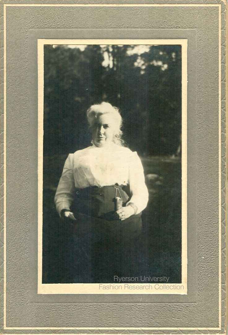 Woman sitting outdoors. Unknown photographer, date and location. Shirtwaist would suggest 1905-1910. FRC 2002.04.243