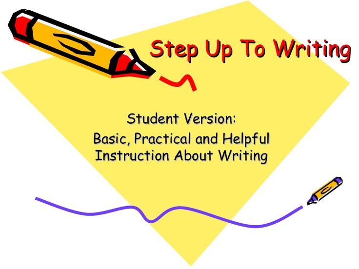 19 best Step Up to Writing images on Pinterest Teaching writing - ucr resume builder