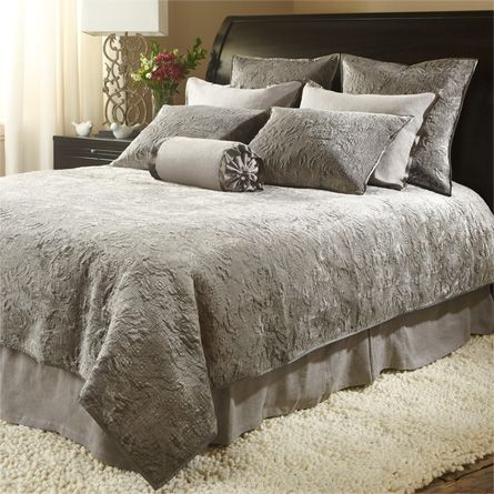 View the Roane Queen Velvet Quilt from Arhaus. An elegant tonal mix of velvet, linen and silk, the Roane Bedding Collection is perfect for layering