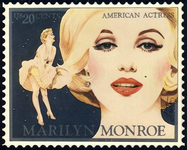 Marilyn Monroe Stamp by Richard Laeton - my best friend & an amazing artist