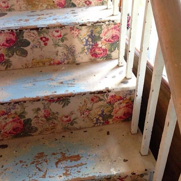 Rose Staircase Cute Idea HOME Rose Chintz Pinterest