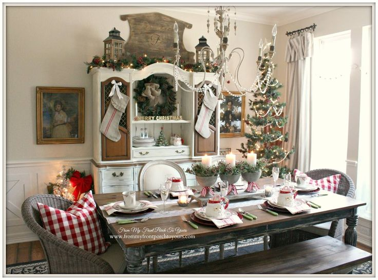 Dining Room Decorating For Christmas Part 95