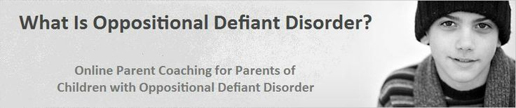 """Tricks To Getting Compliance From Defiant Children"" - ""Although children who are defiant appear to know the difference between right and wrong, they are confused and frustrated by the fact that the rules keep changing from one adult to the next. They want to see the world in black and white terms, because transitions are disturbing to them."" (Site offers on-point articles, podcasts, ask the coach and weekly emails to help  defuse the automatic negativity from kids and teens with ODD.)"