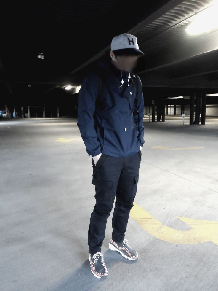Navy Anorak + Nike Footscapes